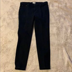 J Crew Black Lookout High Rise Skinny Jeans Sz 32